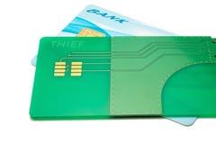 Αμυχή πιστωτικών καρτών Στοκ Εικόνες