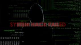 Αμυχή συστημάτων αποτυχημένη, ανεπιτυχής προσπάθεια να ραγιστεί ο κωδικός πρόσβασης, 0 εγκληματίας απόθεμα βίντεο