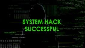 Αμυχή συστημάτων επιτυχής, σπάζοντας λειτουργία κώδικα, ραγισμένος προγραμματιστής κωδικός πρόσβασης απόθεμα βίντεο
