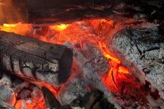 αμυδρή νύχτα πυρκαγιάς ανασκόπησης Στοκ Φωτογραφία