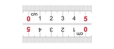 Αμφίδρομος διπλός κυβερνητών που πλαισιώνεται 50 χιλιοστόμετρο, εκατοστόμετρο 5 Η τιμή τμήματος είναι 1 χιλ. Πλέγμα βαθμολόγησης ελεύθερη απεικόνιση δικαιώματος