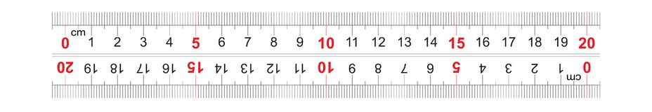 Αμφίδρομος διπλός κυβερνητών που πλαισιώνεται 200 χιλιοστόμετρο, εκατοστόμετρο 20 Η τιμή τμήματος είναι 1 χιλ. Πλέγμα βαθμολόγηση διανυσματική απεικόνιση