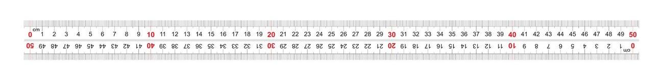 Αμφίδρομος διπλός κυβερνητών που πλαισιώνεται 500 χιλιοστόμετρο, εκατοστόμετρο 50 Η τιμή τμήματος είναι 1 χιλ. Πλέγμα βαθμολόγηση διανυσματική απεικόνιση