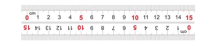 Αμφίδρομος διπλός κυβερνητών που πλαισιώνεται 150 χιλιοστόμετρο, εκατοστόμετρο 15 Η τιμή τμήματος είναι 1 χιλ. Πλέγμα βαθμολόγηση ελεύθερη απεικόνιση δικαιώματος