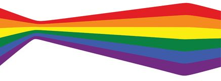 Αμφίφυλη σημαία ουράνιων τόξων διανυσματική απεικόνιση