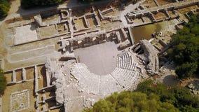 Αμφιθέατρο επί του archeological τόπου Butrint στην Αλβανία Στοκ Φωτογραφία