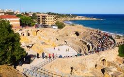 αμφιθέατρο Ρωμαίος Tarragona, Ισπανία Στοκ Εικόνα