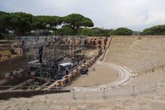Αμφιθέατρο σε Ostia Antica Στοκ Φωτογραφία