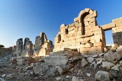 Αμφιθέατρο στην αρχαία πόλη Patara Lycian Τουρκία Στοκ Εικόνα