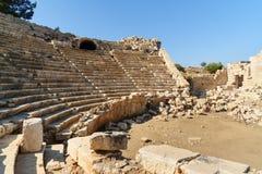 Αμφιθέατρο στην αρχαία πόλη Patara Lycian Τουρκία Στοκ εικόνα με δικαίωμα ελεύθερης χρήσης