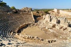 Αμφιθέατρο στην αρχαία πόλη Patara Lycian Τουρκία Στοκ Εικόνες