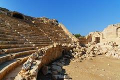 Αμφιθέατρο στην αρχαία πόλη Patara Lycian Τουρκία Στοκ Φωτογραφίες