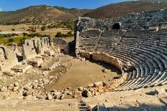 Αμφιθέατρο στην αρχαία πόλη Patara Lycian Τουρκία Στοκ φωτογραφία με δικαίωμα ελεύθερης χρήσης