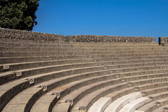 Αμφιθέατρο στην Πομπηία, Ιταλία Στοκ φωτογραφία με δικαίωμα ελεύθερης χρήσης