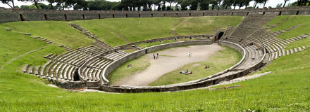 Αμφιθέατρο της Πομπηίας, Ιταλία στοκ φωτογραφία με δικαίωμα ελεύθερης χρήσης
