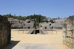 Αμφιθέατρο της ρωμαϊκής πόλης Italica Στοκ Εικόνες