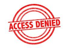 Αμφισβητημένη πρόσβαση σφραγίδα απεικόνιση αποθεμάτων