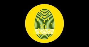 Αμφισβητημένο δακτυλικό αποτύπωμα ασφάλιστρο επίπεδο εικονίδιο που ζωντανεύει με το άλφα κανάλι ελεύθερη απεικόνιση δικαιώματος