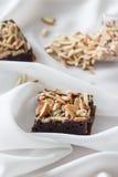 Αμύγδαλο brownies Στοκ εικόνα με δικαίωμα ελεύθερης χρήσης