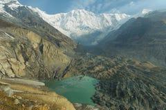 ΑΜ Annapurna Ι στο Νεπάλ Στοκ Φωτογραφία