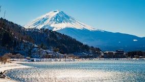 ΑΜ Kawaguchiko λιμνών του ΦΟΎΤΖΙ (Κιότο, Ιαπωνία) Στοκ φωτογραφία με δικαίωμα ελεύθερης χρήσης
