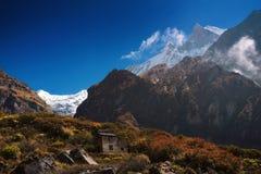 ΑΜ Machapuchare 6,993m από το στρατόπεδο βάσεων Machapuchare, Νεπάλ Στοκ φωτογραφία με δικαίωμα ελεύθερης χρήσης