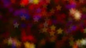 Ανάβει bokeh υπό μορφή αστεριών και θαμπάδας Φωτεινό υπόβαθρο για το βίντεο ή τις παρουσιάσεις απόθεμα βίντεο