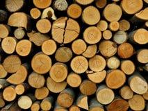 Ανάβοντας λεπτομέρεια καυσόξυλου Woodpile Στοκ Εικόνες