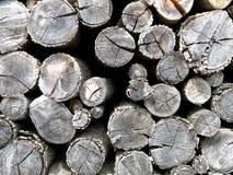Ανάβοντας λεπτομέρεια καυσόξυλου Woodpile Στοκ εικόνα με δικαίωμα ελεύθερης χρήσης