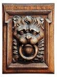 ανάγλυφο λιονταριών ξύλιν Στοκ φωτογραφίες με δικαίωμα ελεύθερης χρήσης