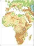 ανάγλυφο της Αφρικής Στοκ Εικόνες
