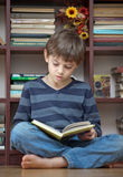 ανάγνωση αγοριών βιβλίων Στοκ φωτογραφίες με δικαίωμα ελεύθερης χρήσης