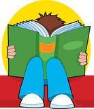 ανάγνωση αγοριών διανυσματική απεικόνιση