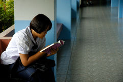 ανάγνωση βιβλίων Στοκ Εικόνα