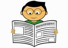 Ανάγνωση μιας εφημερίδας Στοκ εικόνα με δικαίωμα ελεύθερης χρήσης