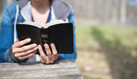 Ανάγνωση της Βίβλου Στοκ Φωτογραφίες
