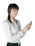 ανάγνωση sms Στοκ φωτογραφία με δικαίωμα ελεύθερης χρήσης