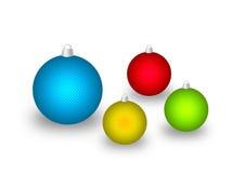 Ανάγλυφο σφαιρών Χριστουγέννων διανυσματική απεικόνιση