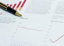 Ανάλυση τιμών μεριδίου στοκ εικόνες