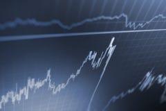 Ανάλυση των στοιχείων χρηματιστηρίου όσον αφορά ένα όργανο ελέγχου Θέμα εμπορικών συναλλαγών νομίσματος Στοκ φωτογραφία με δικαίωμα ελεύθερης χρήσης