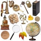 Ανάμεικτα αντικείμενα - που απομονώνονται για τη διακοπή στοκ φωτογραφίες