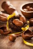 Ανάμεικτα αυγά σοκολάτας για Πάσχα Στοκ Φωτογραφία