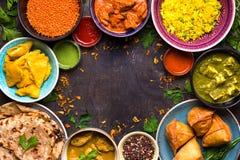 Ανάμεικτα ινδικά τρόφιμα Στοκ Εικόνα