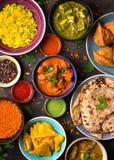 Ανάμεικτα ινδικά τρόφιμα στοκ εικόνες