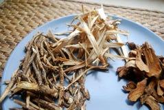 Ανάμεικτα κινεζικά παραδοσιακά χορτάρια ιατρικής σε ένα πιάτο Στοκ εικόνες με δικαίωμα ελεύθερης χρήσης