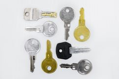 Ανάμεικτα κλειδιά Στοκ φωτογραφίες με δικαίωμα ελεύθερης χρήσης