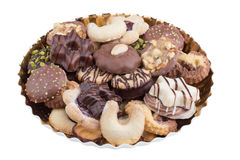 ανάμεικτα μπισκότα Χριστο Στοκ Εικόνες
