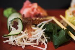 ανάμεικτα σούσια μεσημεριανού γεύματος Στοκ Εικόνες