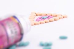 ανάμεικτα χάπια Στοκ Εικόνες