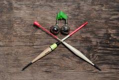 Ανάμεικτα χρώματα επιπλεόντων σωμάτων αλιείας Στοκ Εικόνα